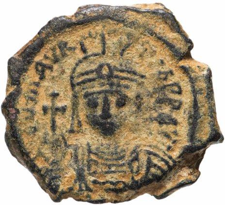 купить Византийская империя, Маврикий Тиберий, 582-602 годы, полфоллиса.
