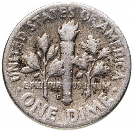 купить США 1 дайм (10 центов, one dime) 1947 D