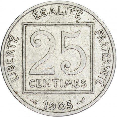 купить Франция 25 сантимов 1903