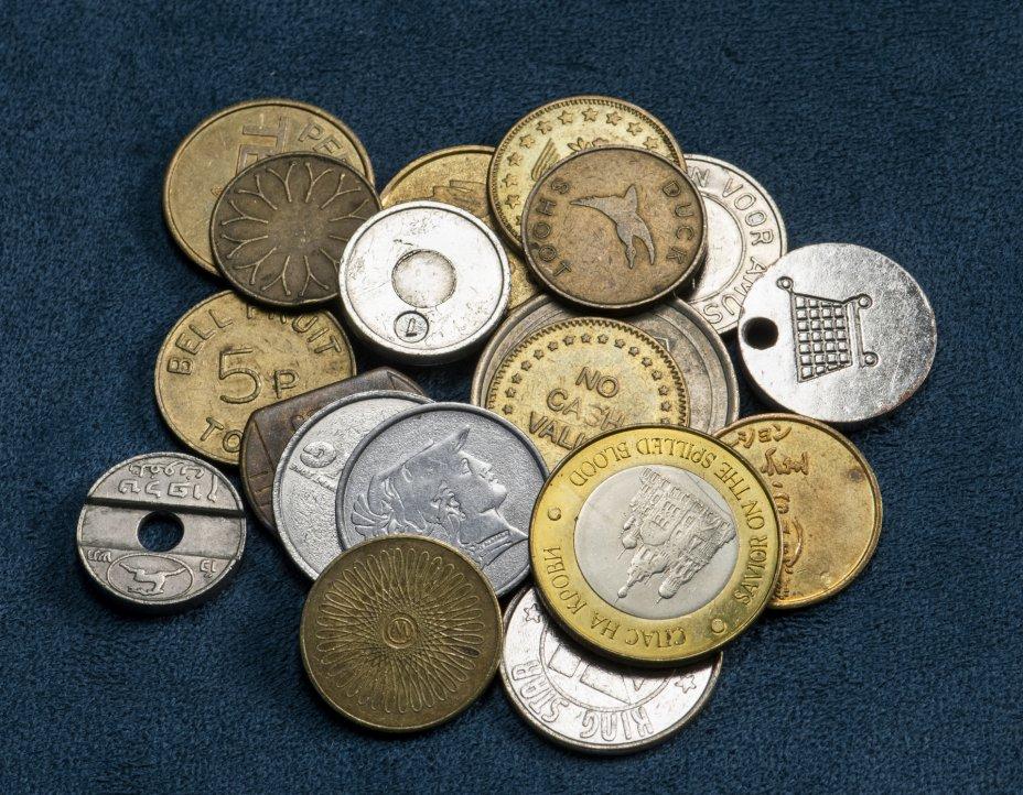 купить Жетоны стран мира - 100 грамм [дополнительная информация в примечании]