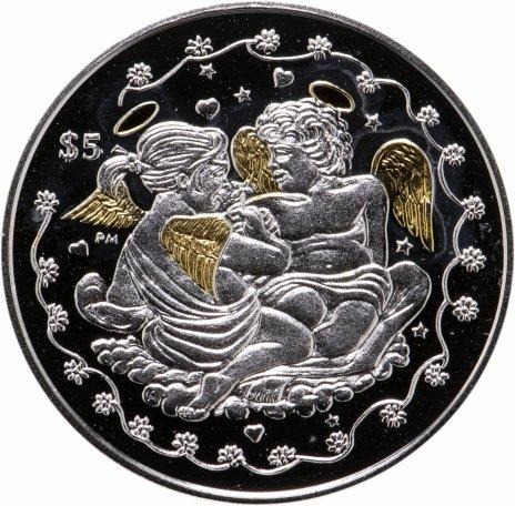 """купить Британские Виргинские Острова 5 долларов 2013 """"Монета любви"""", в футляре с сертификатом"""