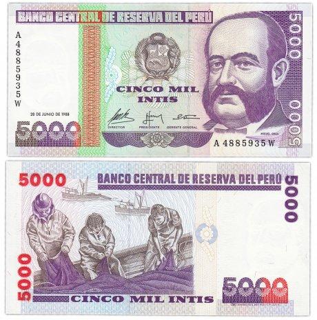 купить Перу 5000 инти 1988 (Pick 137)