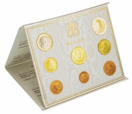 """купить Ватикан годовой набор из 8 монет 2009 """"Его Святейшество Бенедикт XVI, почётный Папа Римский"""" в буклете"""