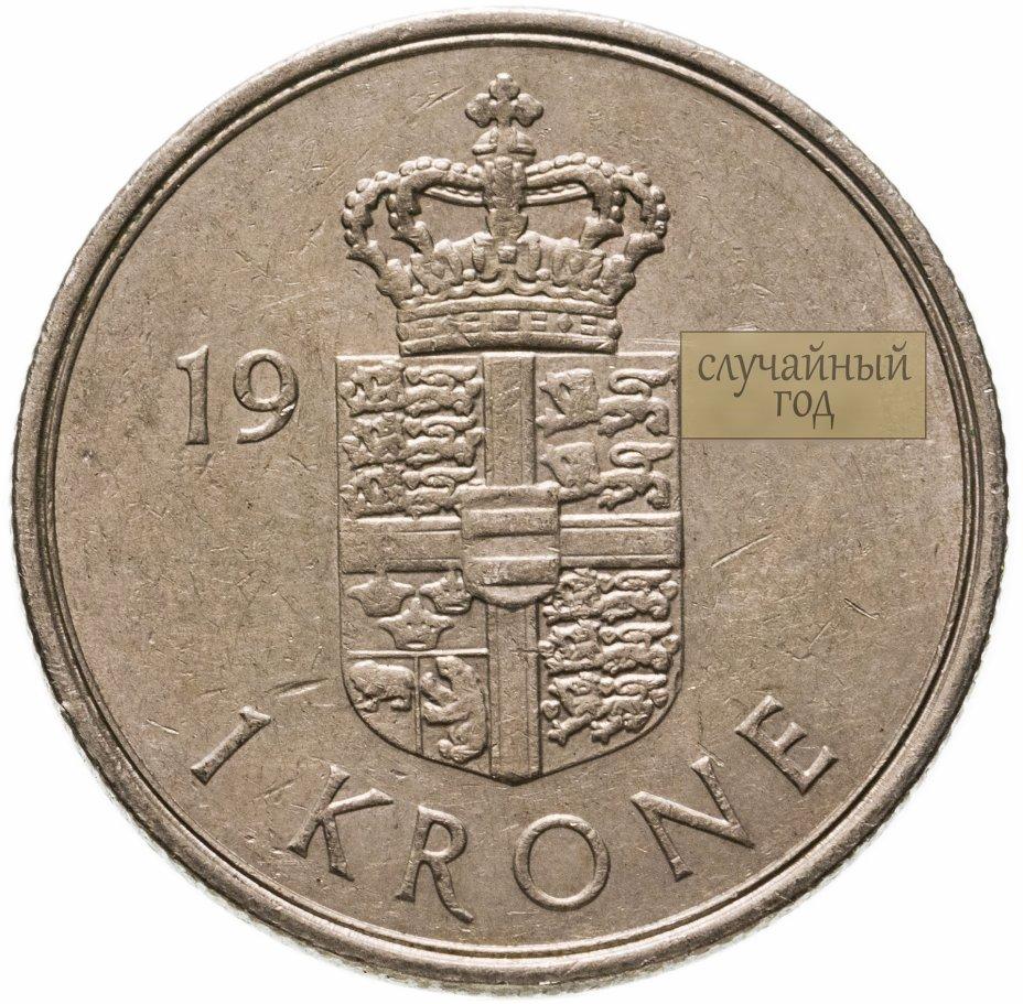 купить Дания 1 крона (krone) 1973-1989 Маргрете II, случайная дата