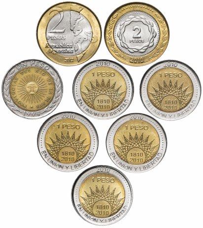 купить Аргентина набор из 8 монет 1994-2012