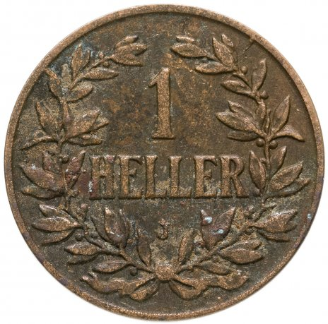"""купить Германская Восточная Африка 1 геллер 1907 """"J"""""""