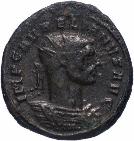 купить Римская Империя Аврелиан 270–275 гг антониниан (реверс: Сол в лучевой короне попирает одного из двух пленников)