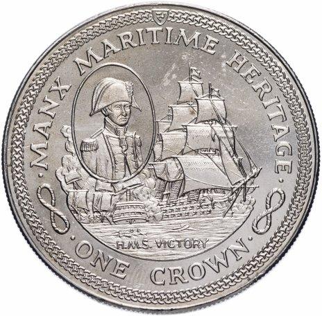 """купить Остров Мэн 1 крона 1982 """"Морское наследие - HMS Victory"""""""