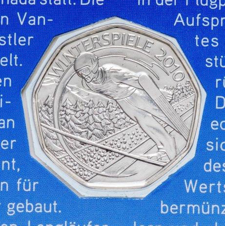 """купить Австрия 5 евро 2010 """"XXI зимние Олимпийские игры - Сноуборд"""" в буклете"""