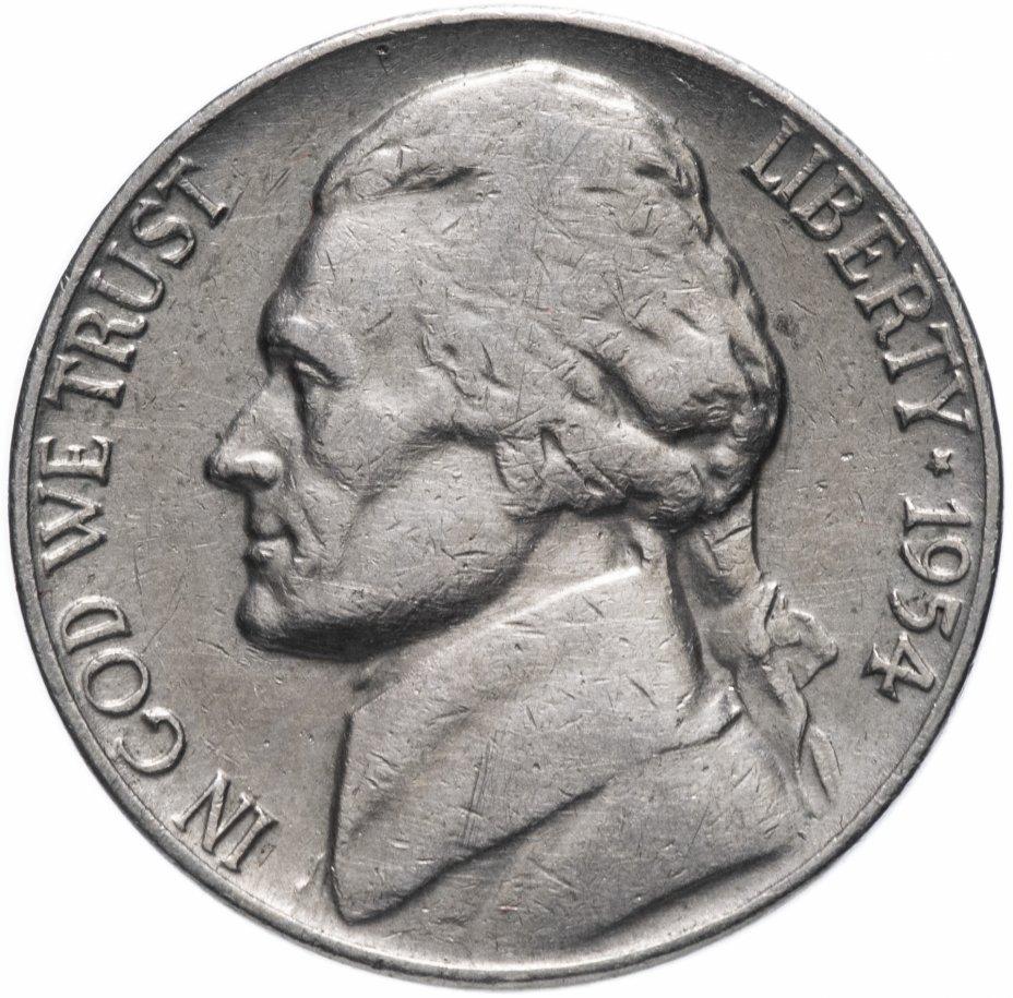 """купить США 5 центов (cents) 1954 """"Jefferson Nickel"""" D"""