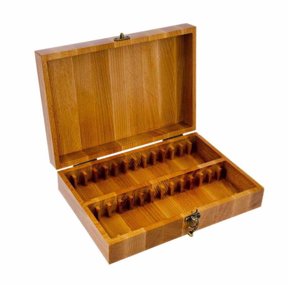 купить Футляр деревянный для хранения 28 монет в слабах (массив бука)