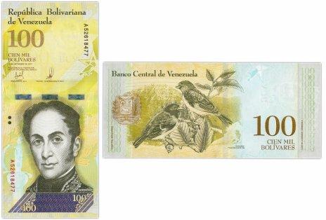 купить Венесуэла 100000 боливар 2017 (Pick 100b) 13.12.2017 (Две защитные полосы)