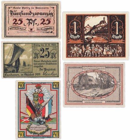 купить Германия (разные земли) набор из 5 нотгельдов 1920-1921