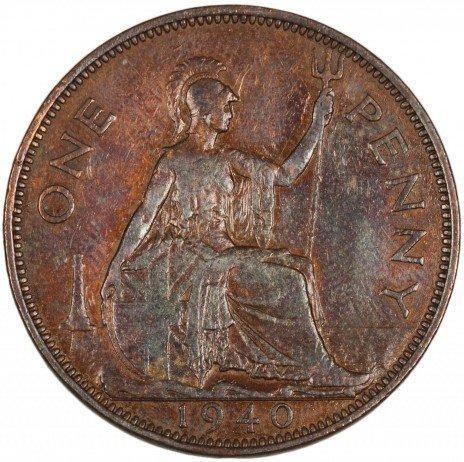 купить Великобритания 1 пенни 1937-1949 периода правления Георга VI