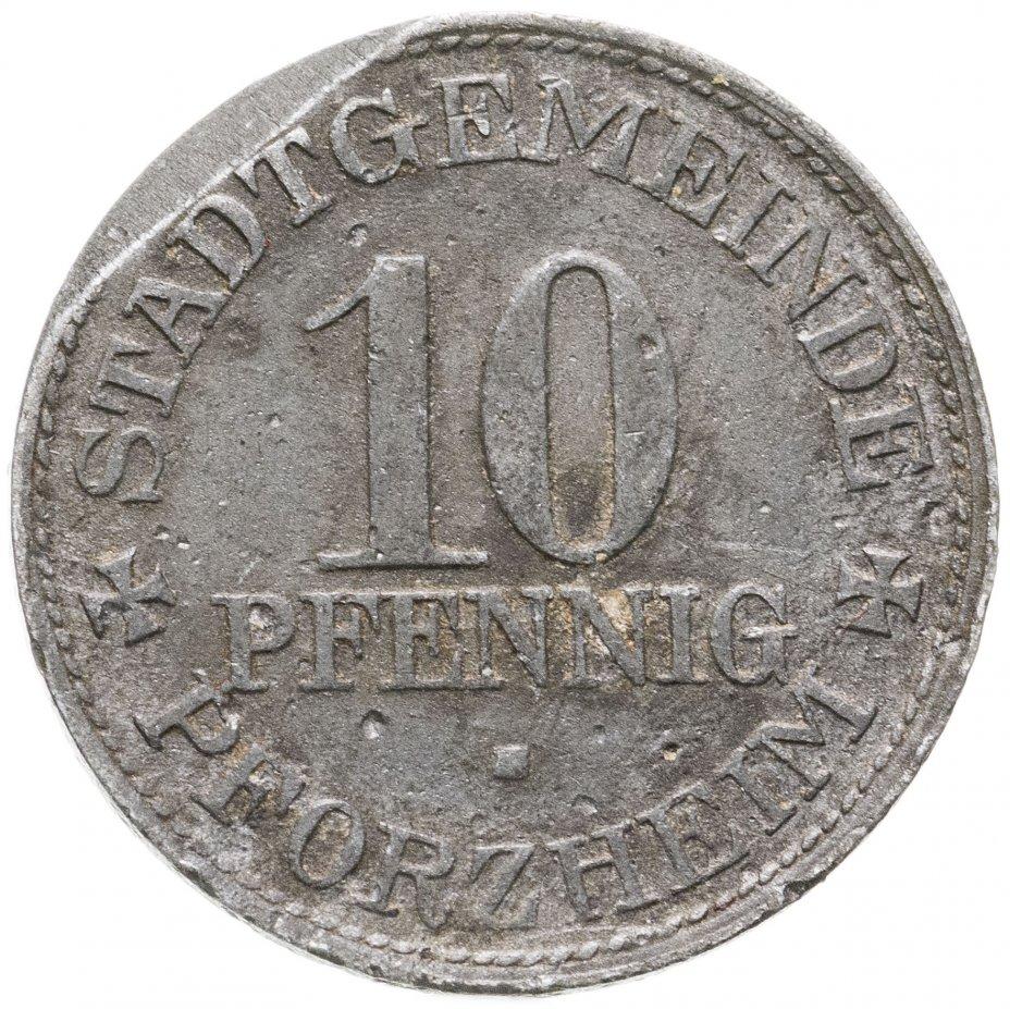 купить Германия (Пфорцхайм) нотгельд 10 пфеннигов 1917
