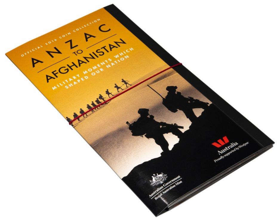 """купить Австралия набор из 14 монет 20 центов 2016 """"ANZAC Афганистан"""", в футляре"""