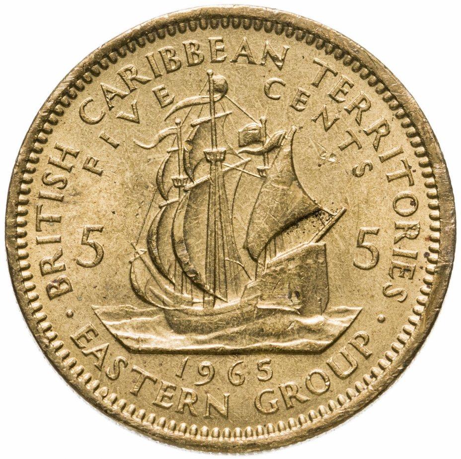 купить Восточные Карибы 5 центов (cents) 1965
