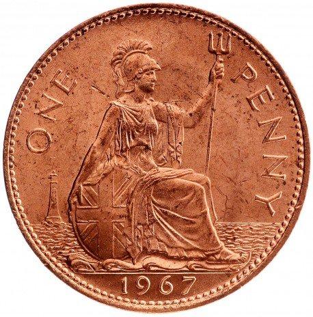 купить 1 пенни 1967 Великобритания