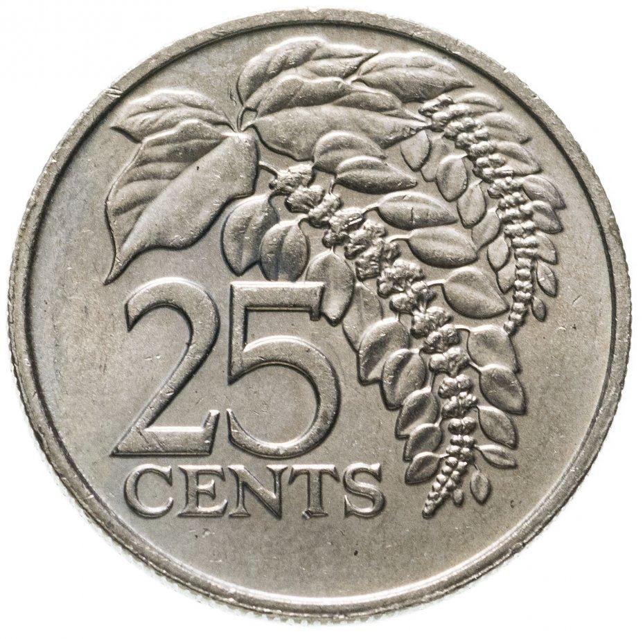 купить Тринидад и Тобаго 25 центов (cents) 1977