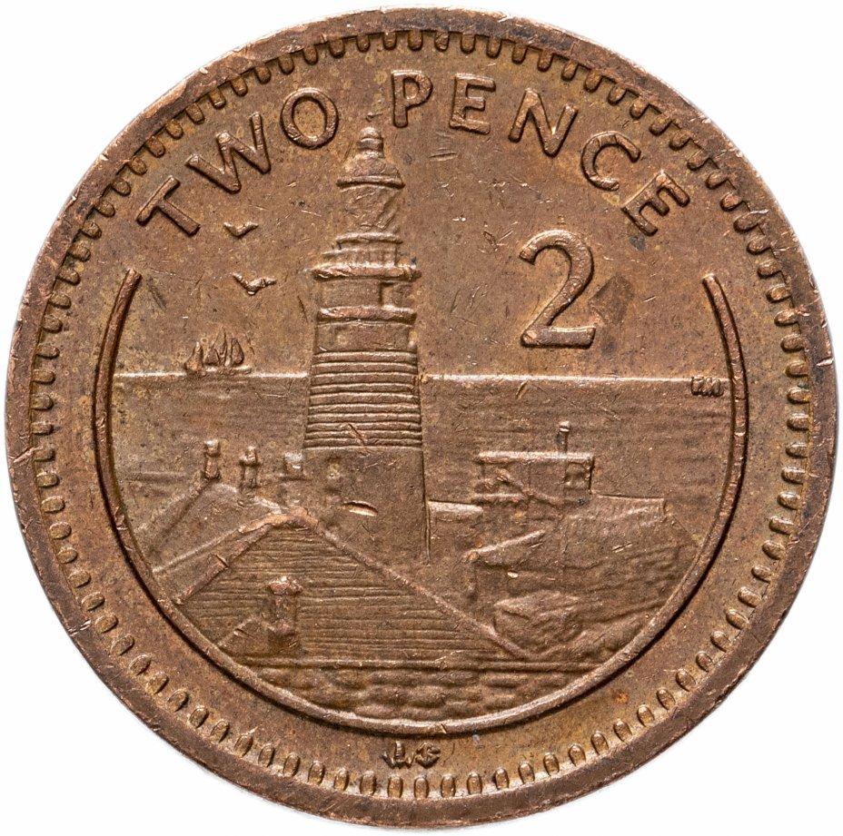 купить Гибралтар 2 пенса (pence) 1998-2003, случайная дата