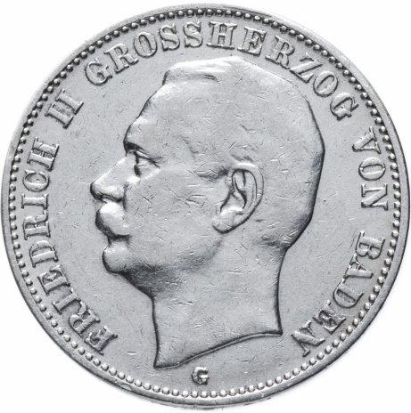 """купить Германская Империя (Баден) 3 марки 1908 """"G"""""""