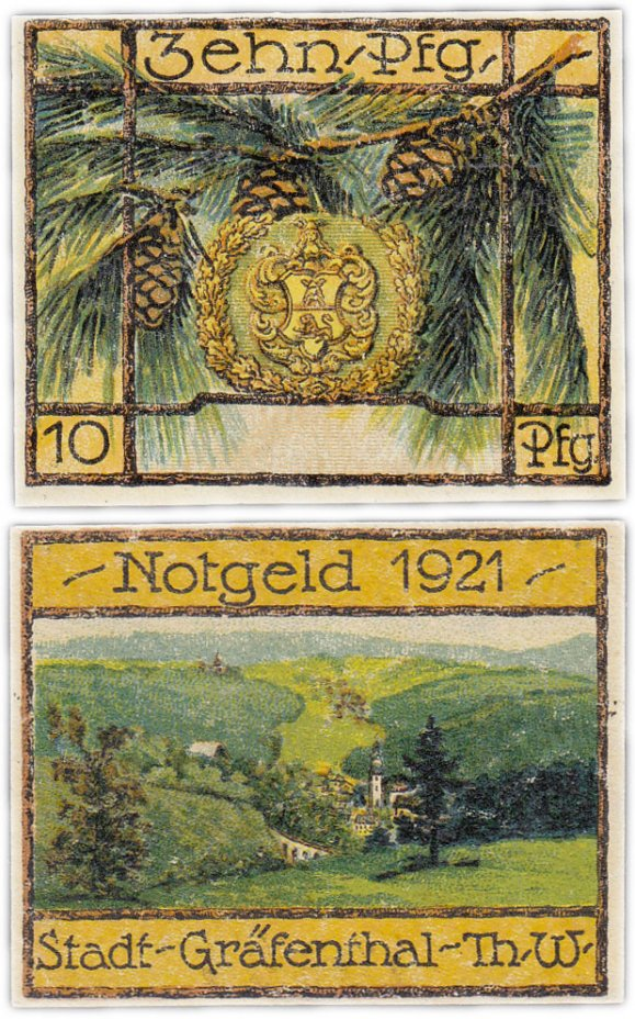 купить Германия (Тюрингия: Гревенталь) 10 пфеннигов 1921 (463.1а/B1) C#
