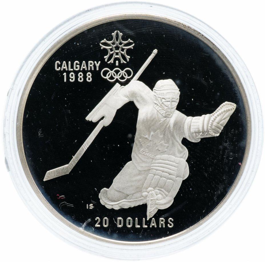 """купить Канада 20 долларов 1986 """"XV зимние Олимпийские игры в Калгари - Хоккей"""""""