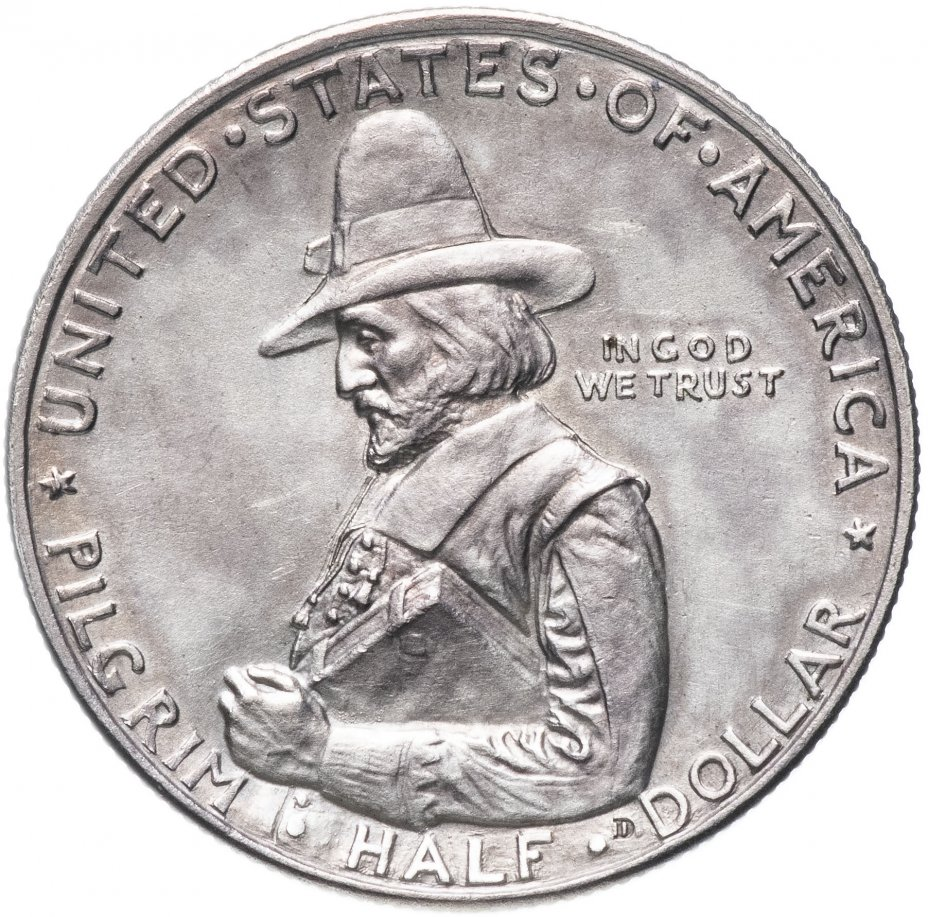 """купить США 50 центов (1/2 доллара, half dollar) 1920 """"300 лет прибытию Отцов-пилигримов"""""""