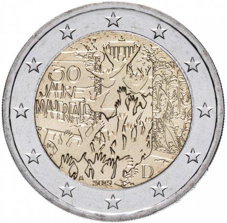 """купить Германия 2 евро 2019 A """"30-летие падения Берлинской стены"""""""