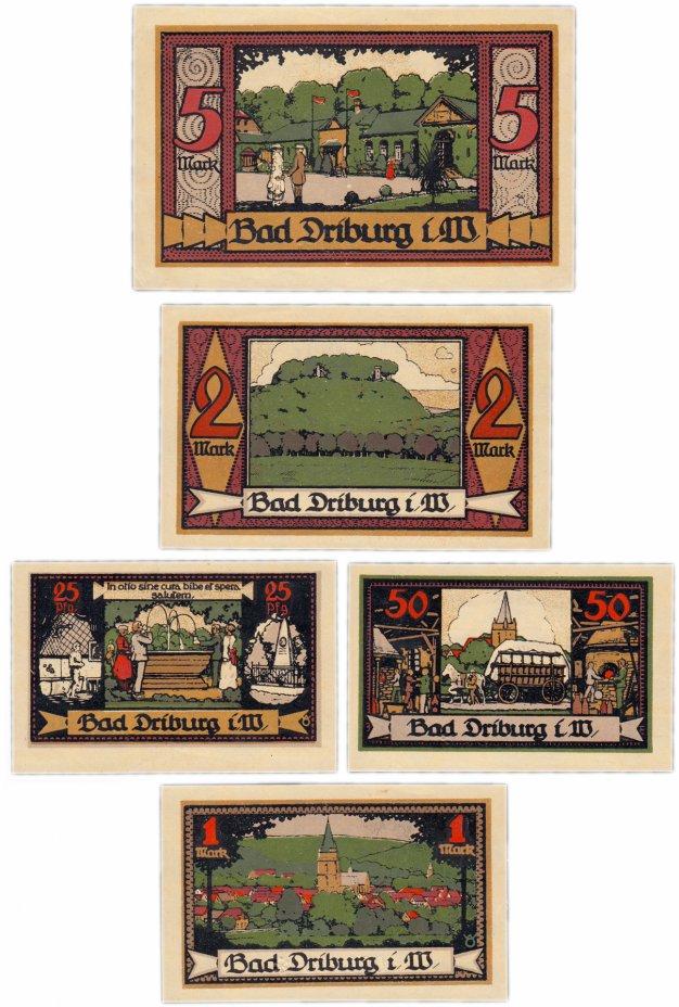 купить Германия (Вестфалия: Бад-Дрибург) набор из 5 нотгельдов 1921