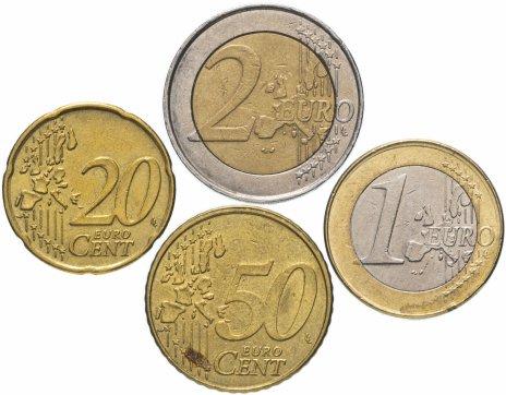 купить Бельгия полный годовой набор 2002 (4 монеты, из обращения)
