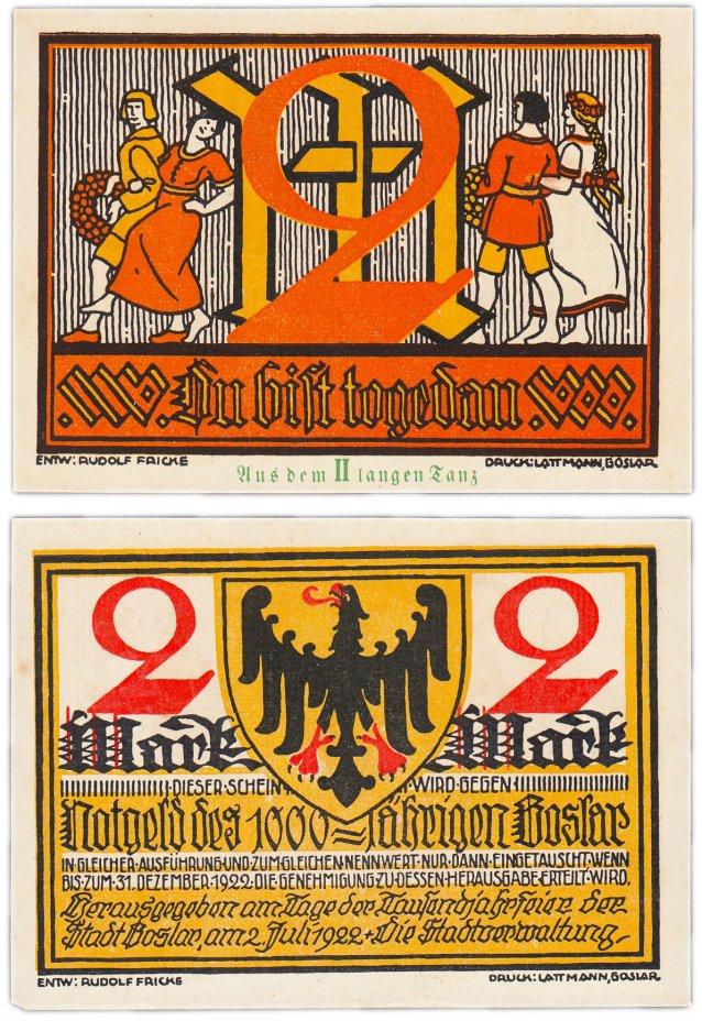 купить Германия (Ганновер: Гослар) 2 марки 1922 (2/B1)