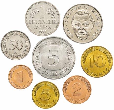 купить Германия набор монет 1975-1996 (8 монет)