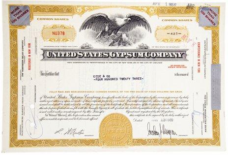 купить Акция США  UNited States Gypsum Company , 1969 гг.