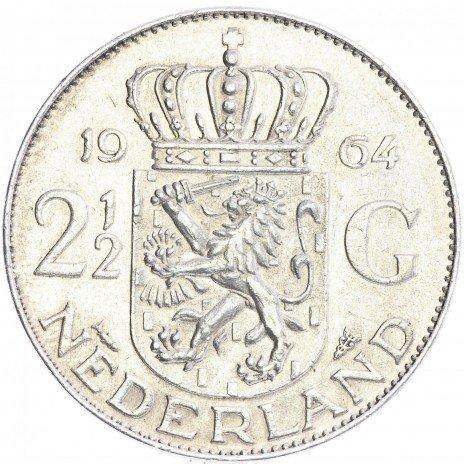 купить Нидерланды 2.5 гульдена 1964