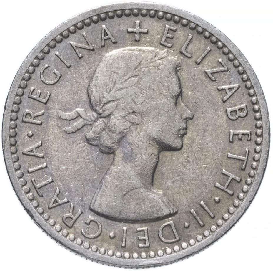 купить Великобритания 6 пенсов 1956