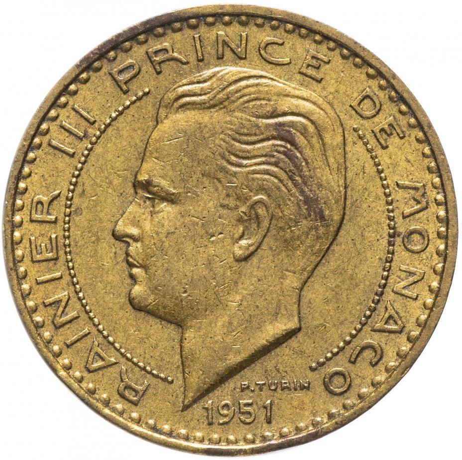 купить Монако 20 франков (francs) 1951