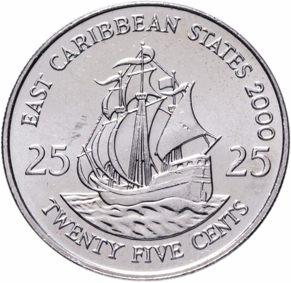 купить Восточные Карибы 25 центов (cents) 2000