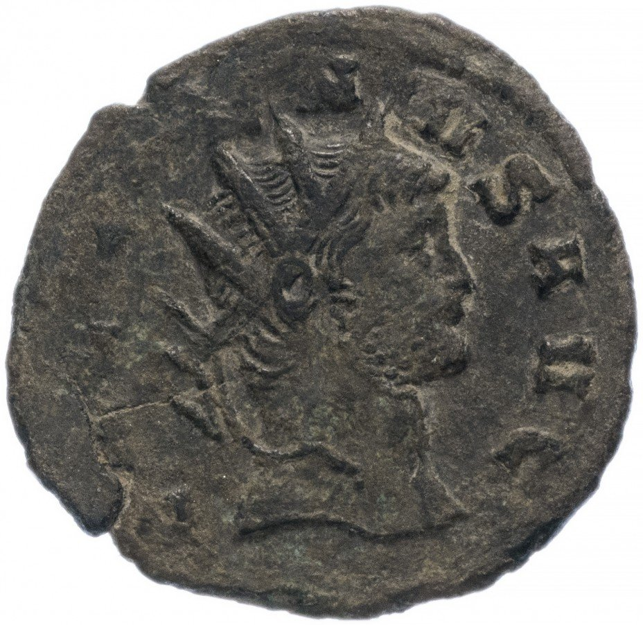 купить Римская Империя Галлиен 253-268 гг антониниан (реверс: женская фигура стоит прямо, опираясь на колонну)