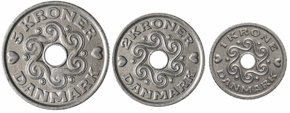 купить Дания набор монет 1993-2002 (3 монеты)