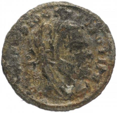 купить Римская Империя Диоклетиан 284-305 гг фоллис (реверс: Квиета сидит на престоле, держит пальмовую ветвь)
