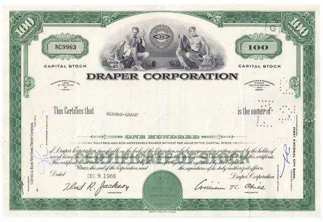 купить Акция США DRAPER CORPORATION 1966- 1967 гг.
