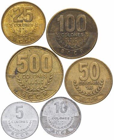 купить Коста-Рика 5, 10, 25, 50, 100 и 500 колонов 1997-2017