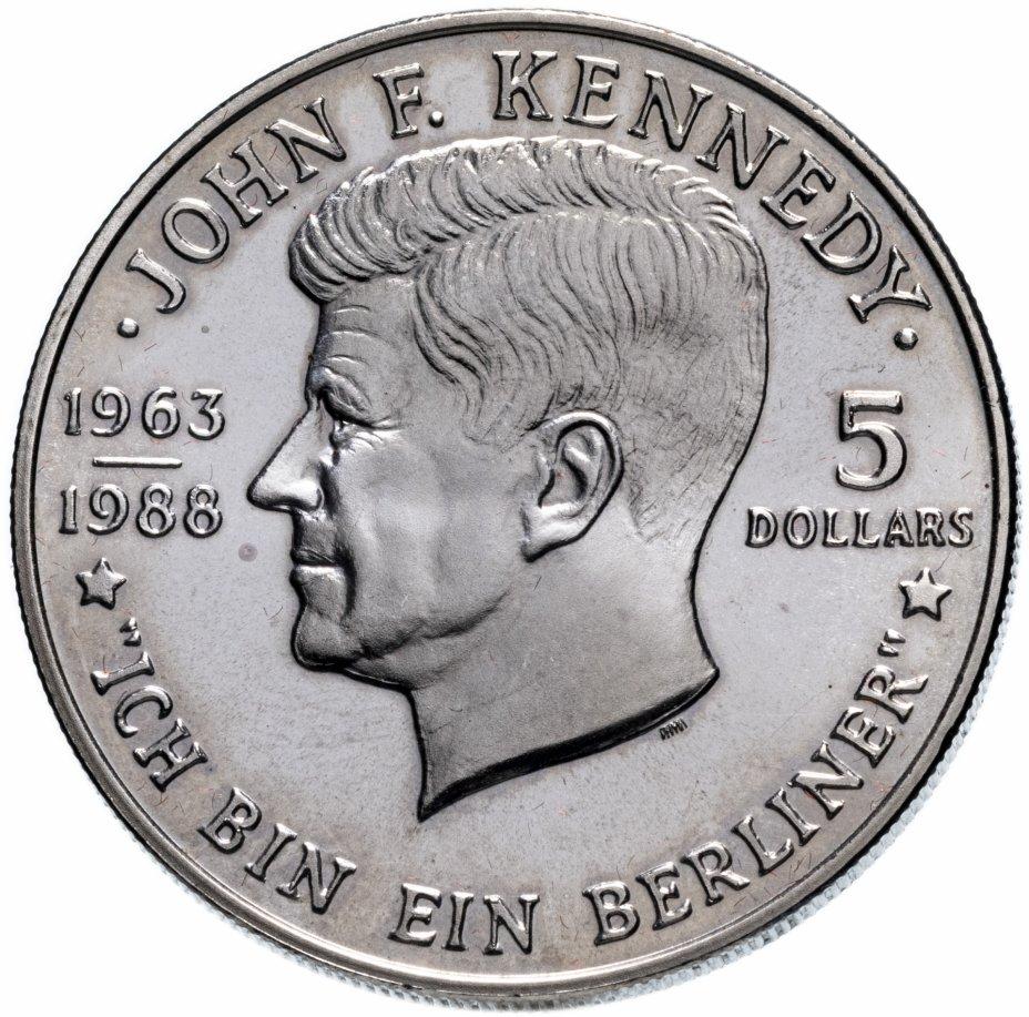 """купить Ниуэ 5 долларов 1988 """"25 лет со дня смерти Джона Кеннеди"""""""