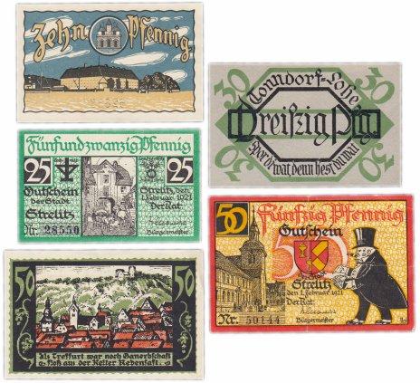 купить Германия (разные земли) набор из 5 нотгельдов 1921