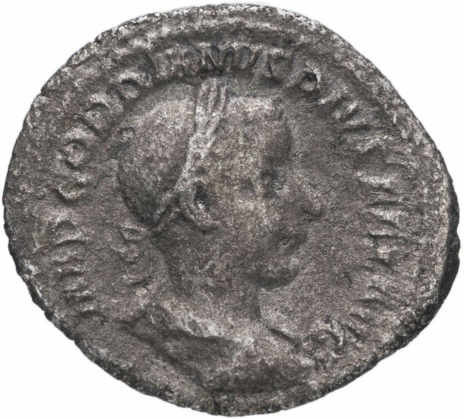 купить Римская Империя Гордиан III 238-244гг денарий (реверс: Аполлон на троне влево)