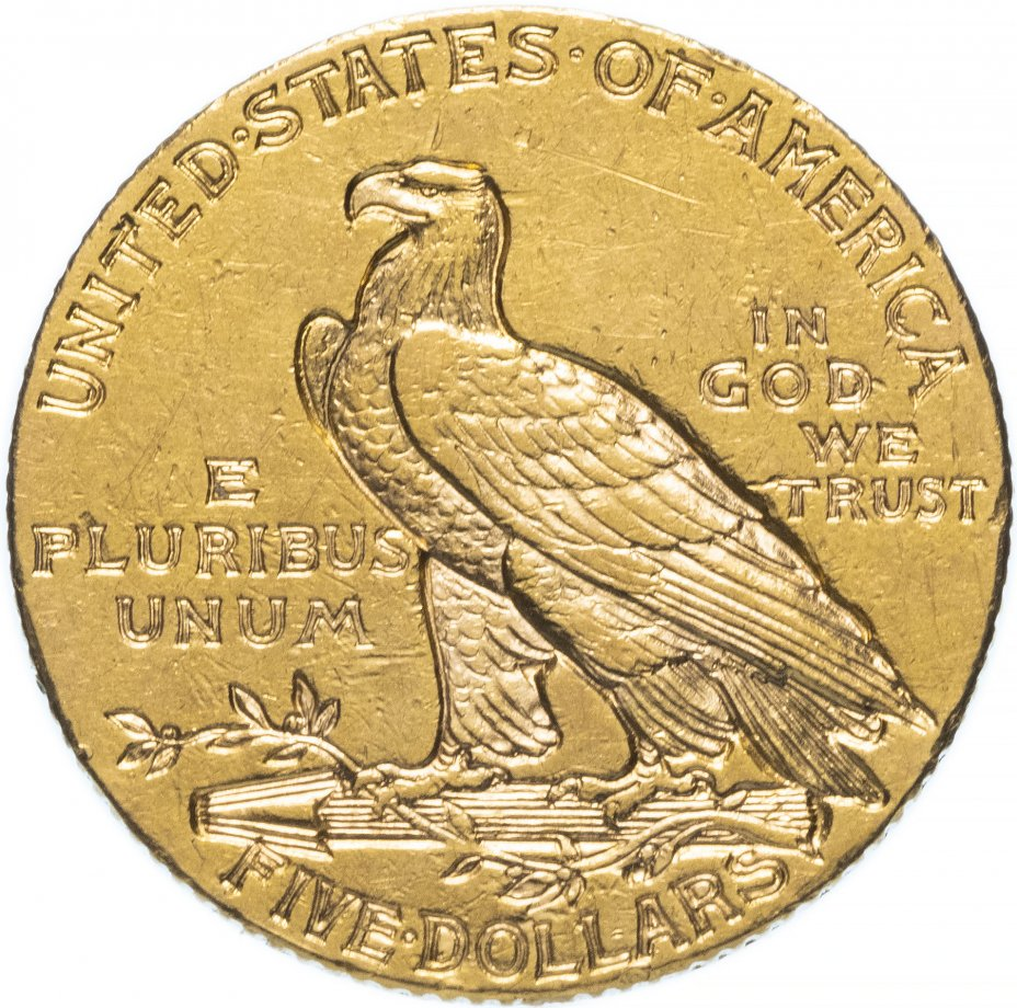 """купить США 5 dollars (долларов) 1908 """"Indian Head (голова индейца)"""""""