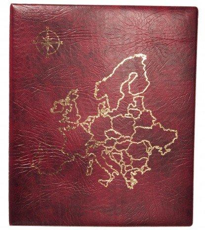 """купить Папка на кольцах формата OPTIMA """"Европа"""" красная"""