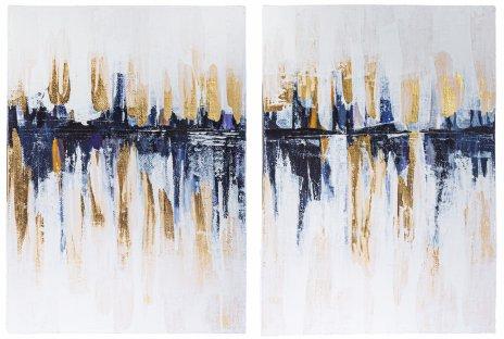 """купить Диптих """"Город под дождем"""", живопись, интерьерная картина, акриловые краски, холст, Россия, 2020 г."""