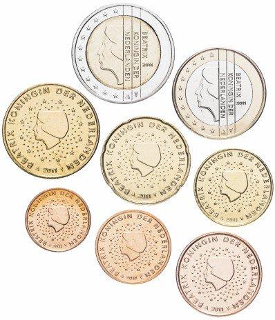купить Нидерланды набор монет евро 2011 (8 штук)